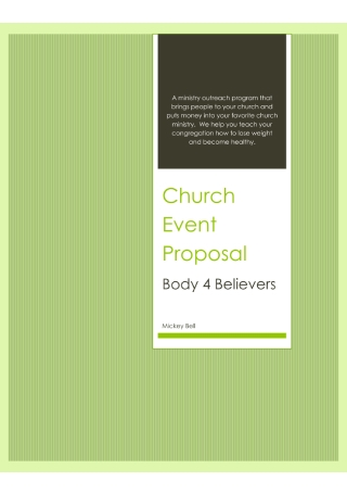 Church Event Proposal