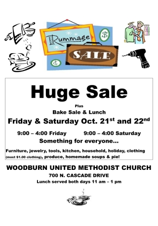 Community Rummage Sale Flyer