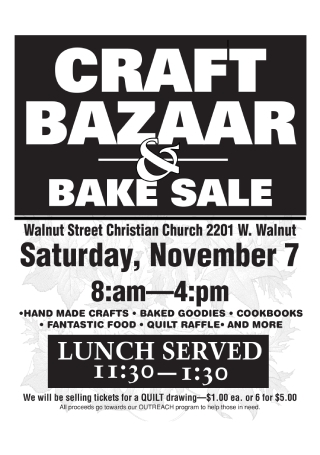 Craft Bazaar and Bake Sale Flyer