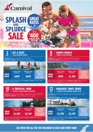 Cruise Sale Flyer