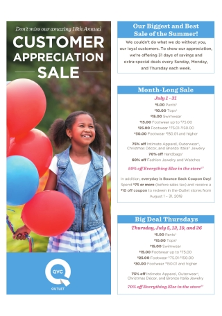 Customer Appreciation Sale Flyer