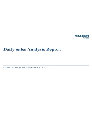Daily Sales Analysis Report