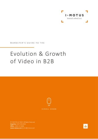 Evolution and Growth of Video in B2B Marketing