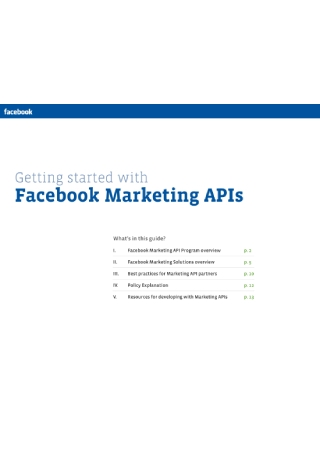 Facebook Marketing APIs