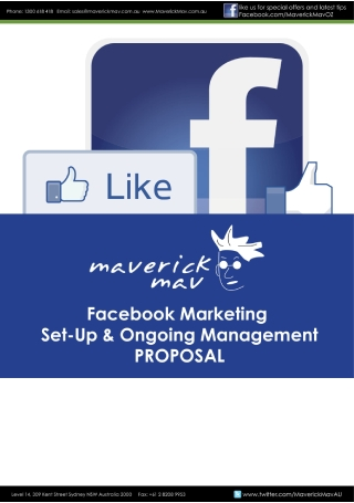 Facebook Marketing Management Proposal