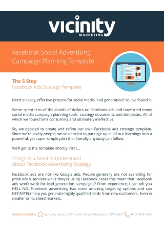 Facebook Social Advertising Planning Campaign