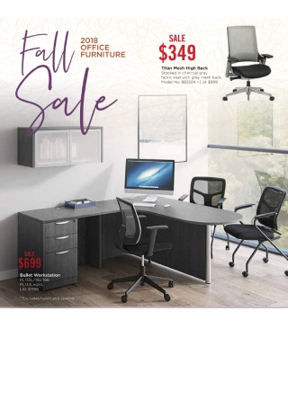 Fall Office Furniture Sale Flyer