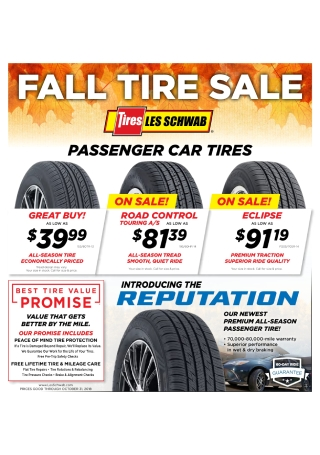Fall Tire Sale Flyer
