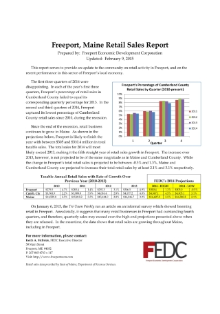 Freeport Retail Sales Report