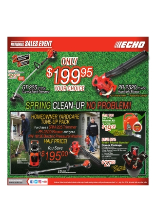 Garden Equipment Sales Flyer