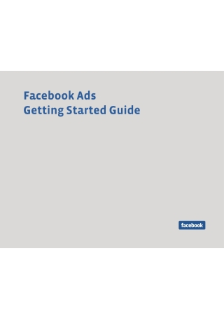 Getting Started with Facebook Ads