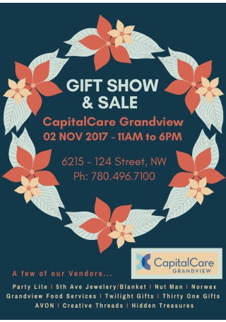 Gift Show and Sale Flyer