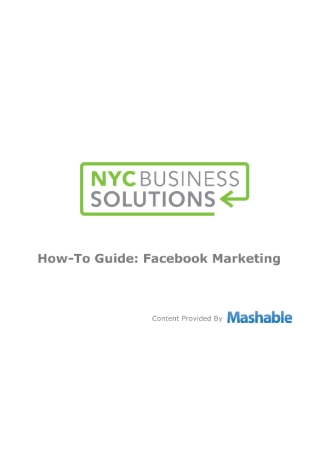 How To Guide Facebook Marketing