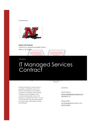 IT Managed Services Contract