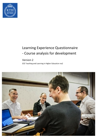 Learning Experience Questionnaire