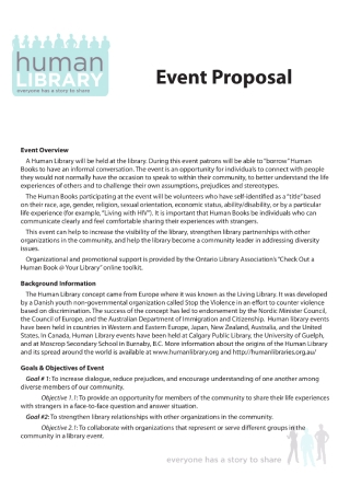 Library Event Proposal