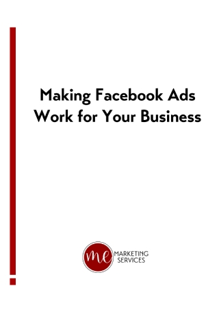 Making Facebook Ads for Business