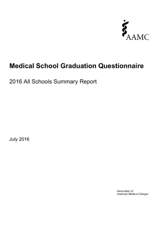 Medical School Graduation Questionnaire