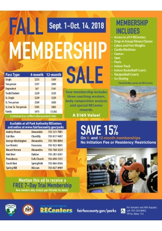 Membership Pass Sale Flyer