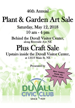 Plant and Garden Art Sale Flyer