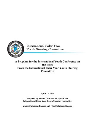 Proposal for the International Youth Conference