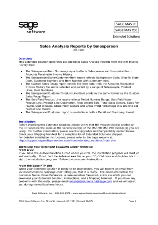 Sales Analysis Report by Salesperson