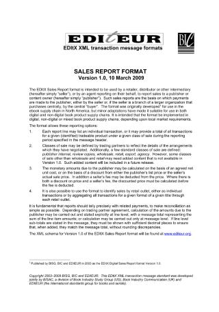 Sales Report Format