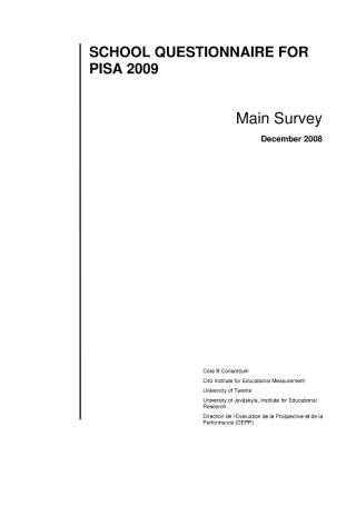 School Survey Questionnaire