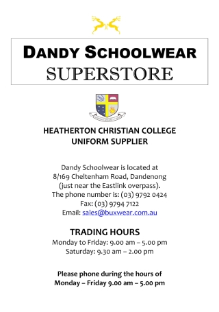 School Wear Sales Flyer