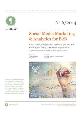 Social Media Marketing and Analytics for B2B