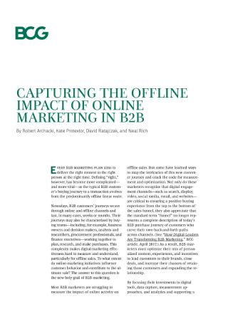 The Offline Impact of Online Marketing in B2B