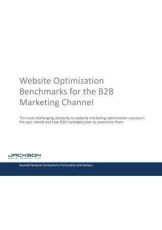 Website Optimization Benchmarks for B2B Marketing