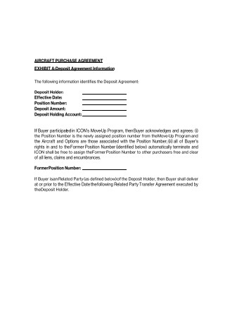 Aircraft Purchase Agreement