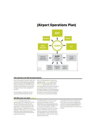 Airport Operations Plan Sample