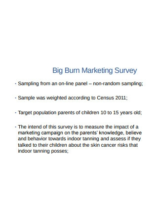 Analysis of Sample Survey