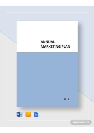 Annual Marketing Plan Templates