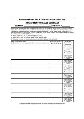 Attachment to Sale Contract Sample