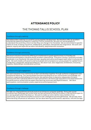 Attendance Policy Plan