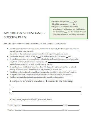 Attendance Success Plan