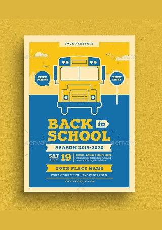 Back To School Event Flyer Sample