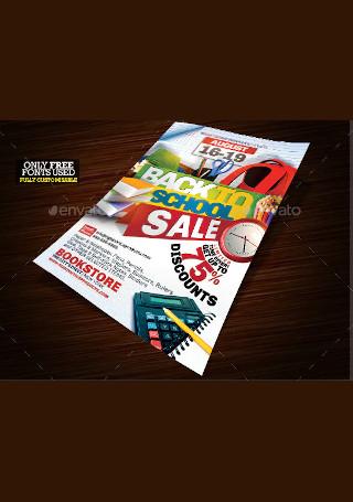 Back to School Event Flyer InDesign