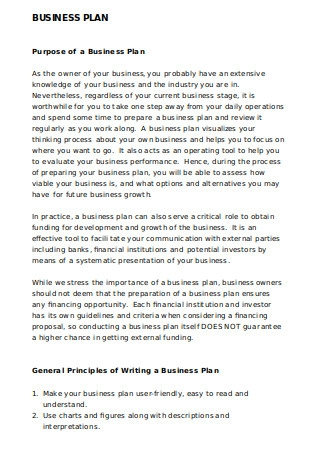 Basic Business Plan Sample