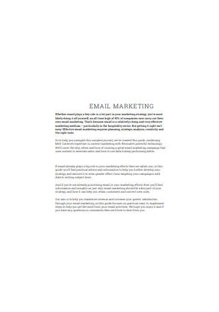 Basic Email Marketing