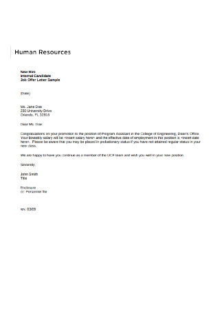 Basic HR Employee Cover Letter