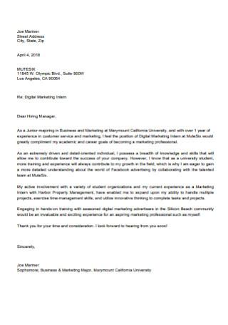 Basic Marketing Cover Letter
