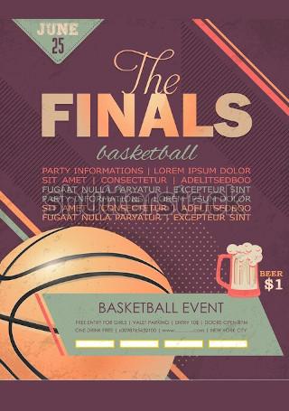 Basketball Event Flyer Sample