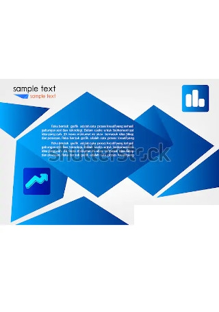 Blue Vector Business Marketing Brochure