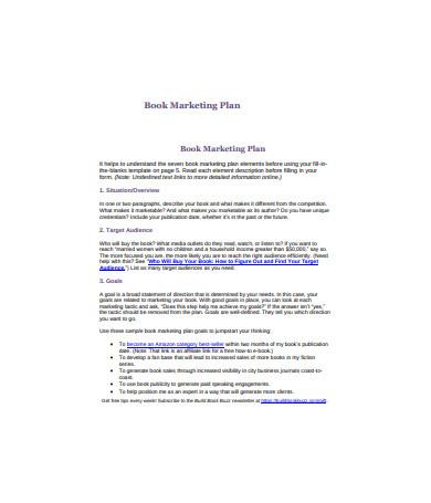 Book Marketing Plan Sample