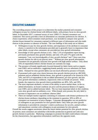 Broiler Survey Report