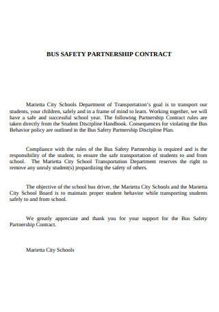 Bus Saftey Partnership Contract